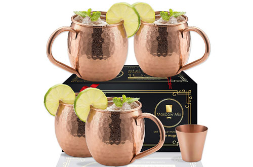 Moscow-Mix Copper Mugs for Moscow Mule Cocktail