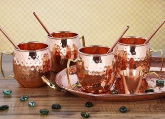 Moscow Mule Copper Mugs with Cocktail Copper Straws