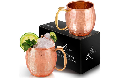 KoolBrew Moscow Mule Copper Mugs Gift
