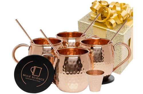 Advanced Mixology Science Moscow Mule Copper Mugs - Pure Solid Copper Mugs
