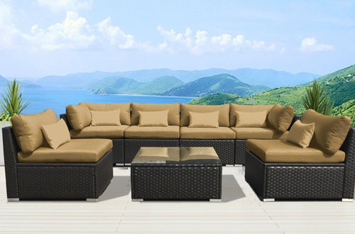 Modenzi 7G-U Outdoor Sectional Patio Furniture Wicker Sofa Set