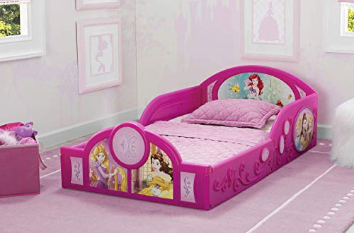 Disney Princess Deluxe Inflatable Toddler Bed with Guardrails