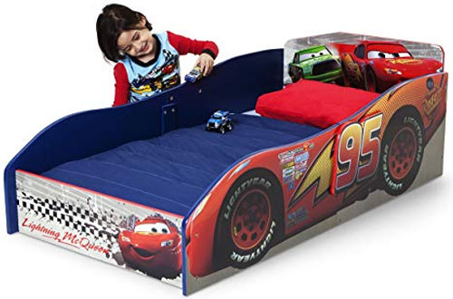 Delta Children's Inflatable Wood Toddler Bed - Disney/Pixar Cars