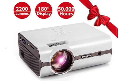 Crenova XPE496 Portable Video Projector for Home Theater, Outdoor & Video Games