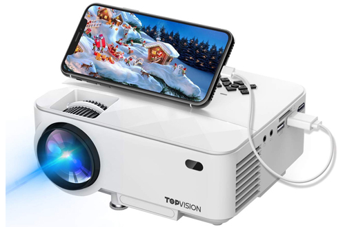 T TOPVISION Mini Projector with Synchronize Smartphone Screen
