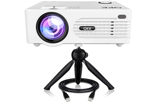 QKK Full HD LED Multimedia Projector for Home Theater Entertainment & Video Projector