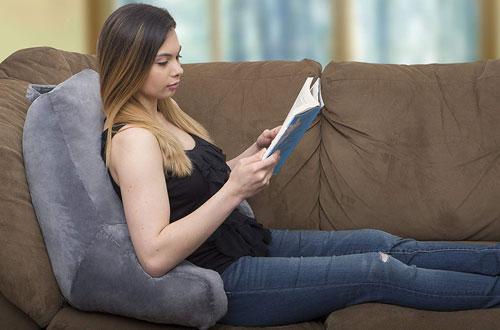 ZIRAKI Large Shredded Foam Reading Pillowfor Adults, Teens and Kids