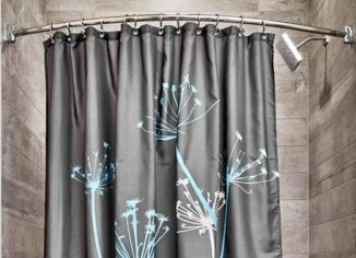 InterDesign Thistle Grey and Blue Shower Curtain