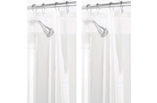 mDesign Waterproof Bathroom Shower Curtain Liner