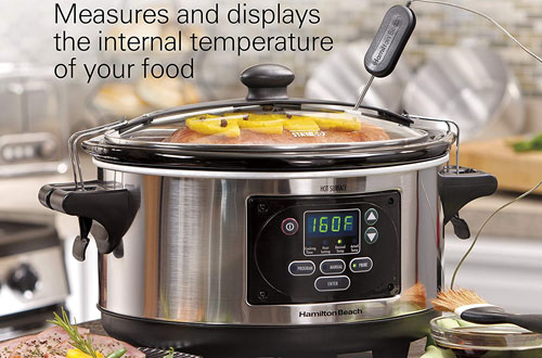 Hamilton Beach Programmable Set & Forget with Temperature Probe Slow Cooker