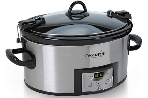 Crock-Pot Cook & Carry ProgrammableStainless SteelSlow Cooker with Digital Timer