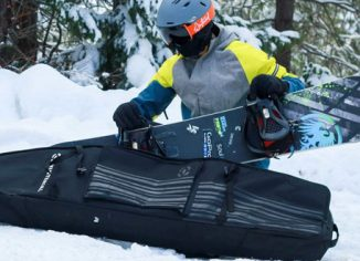 Winterial Waterproof Snowboard Bag with Wheels for Trips & Air Travel