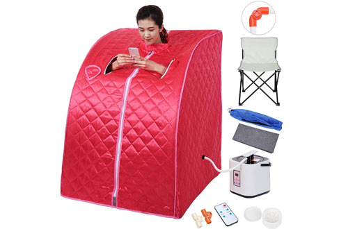 AW Portable Large Red Therapeutic Steam Sauna SPA Slim Home Indoor