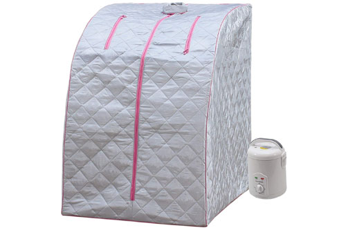 Lightweight Personal Steam Sauna for Relaxation at Home - 60 Min Timer