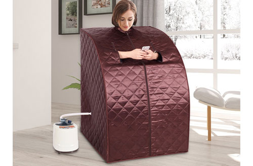 Giantex Portable Steam Sauna Spa Full Body Slimming for Loss Weight