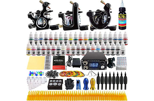 Solong Tattoo Kits 3 Pro Tattoo Machine Guns