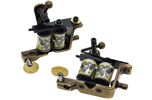 Thomas Custom Tattoo Machine Gun Handmade Brass Frame