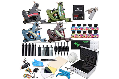 Dragonhawk Tattoo Machine Kit with Standard 4 Tunings