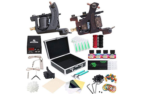 Tattoo Kit 2-Pcs Coil Tattoo Machine Gun - Dragonhawk 2-2YMX