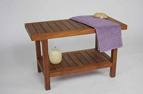 Original 30-Inch Spa Teak Shower Bench – AquaTeak