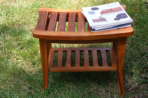 Waterproof Patio Garden Bath Shower Spa Shower Stool Bench – Ala Teak