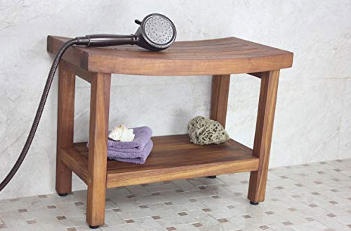 Patented 24-Inches Sumba Teak Bench for Shower – AquaTeak