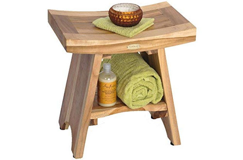 Natural Serenity Teak Shower Stool – EcoDecors