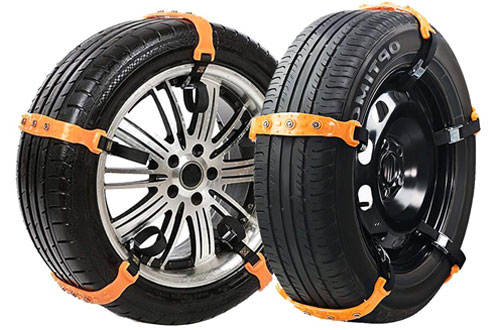 VeMee Safety Snow Tire Chains for Cars, Trucks and SUV