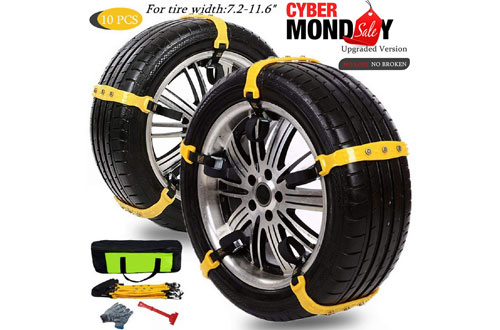 Mannice Anti-SlipMud Snow Tire Chains for Cars