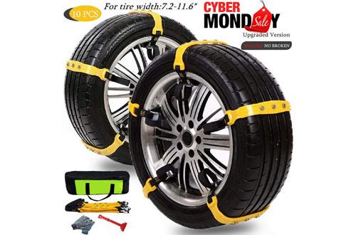 ManniceAnti-SlipMud Snow Tire Chains for Cars