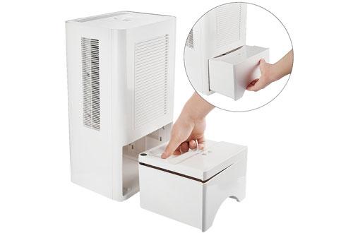 Powilling 5500 Cubic Feet RV Bathroom Dehumidifier with Drain Hose