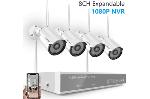 SAFEVANT Indoor/Outdoor Security Camera System Wireless