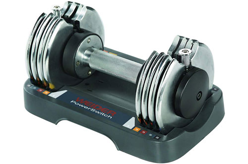 Weider Speed Weight Adjustable Dumbbell - 5-25 lbs