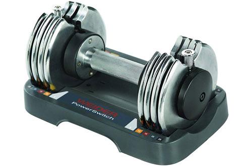 Weider Speed Weight Adjustable Dumbbell - 5-25 lbs
