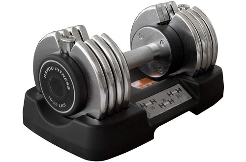 Bayou Fitness 50 Pound Adjustable Dumbbells
