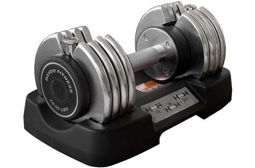 Bayou Fitness 50 Pound Adjustable Dumbbells
