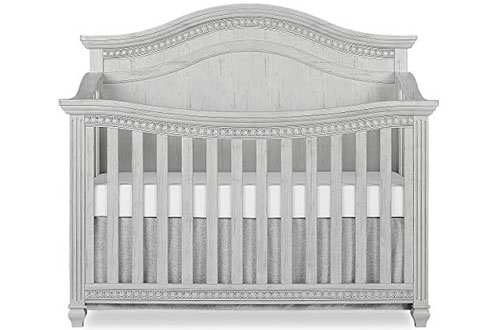 Evolur Madison 5 in 1 Curved Top Convertible Crib for Baby