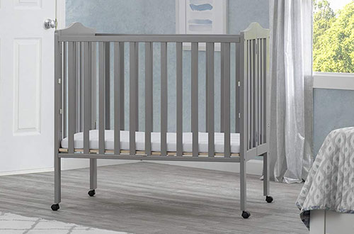 Delta Children Portable Folding Mini Baby Crib with Mattress
