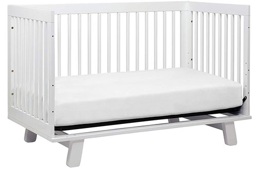 Babyletto Hudson White Convertible Crib with Toddler Bed Conversion Kit