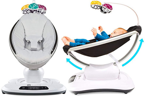4moms Bluetooth-Enabled High-Tech Electric Baby Swing with Unique Motions