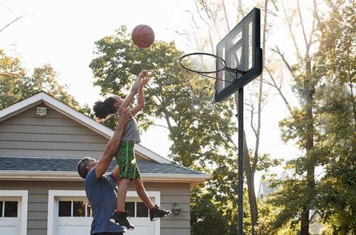 GiantexIn-Ground Basketball Hoop withOutdoor/Indoor Adjustable Height Stand