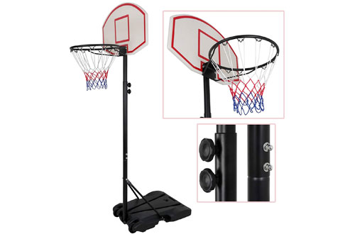Outdoor/Indoor Portable Basketball Hoop with Backboard & Wheels for Kids & Toddlers