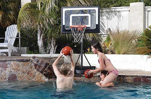 SKLZ Pro Outdoor Pool Basketball Hoop withAdjustable Height