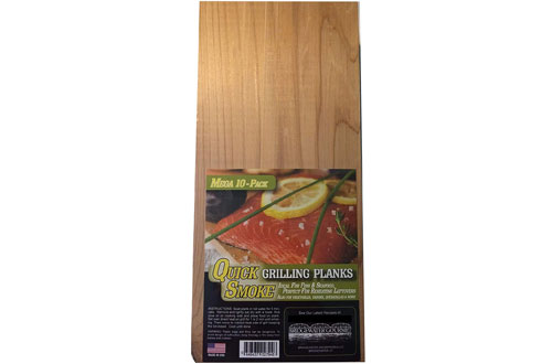 Bridgewater Gourmet Cedar BBQ Planks for Grilling and Quick Soaking