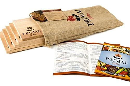 Primal Grilling -Premium Cedar PlankSalmon Grill - 5 Packs