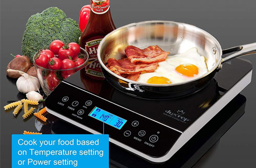 Duxtop LCD 9600LS 1800-Watt Portable Cooktop Countertop Induction Burner