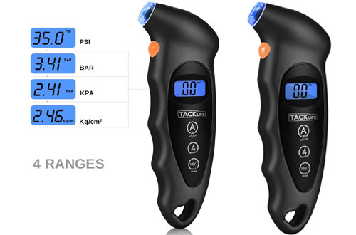 TACKLIFE TG01 Digital Tire Pressure Gauge for Cars & Motorcycles