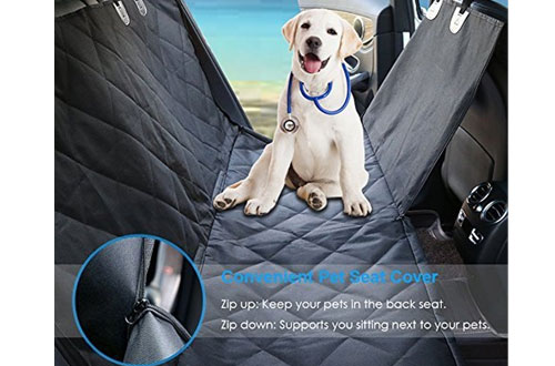 Urpower Soft Waterproof Pet Back Seat Cover for Cars Trucks and SUVs