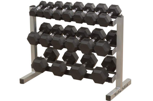 Body-Solid 3-Tier Horizontal Dumbbell Rack