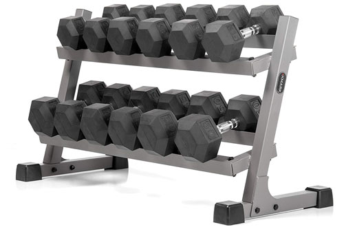 XMARK Heavy Duty Steel Dumbbell Rack with Angled Shelves
